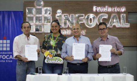 La Casa del Camba y la Fundación Infocal Santa Cruz firman el primer acuerdo Insterinstitucional